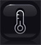 limate control thermometer icon