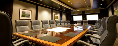 Executive Board Room with lcd screens and lighting control