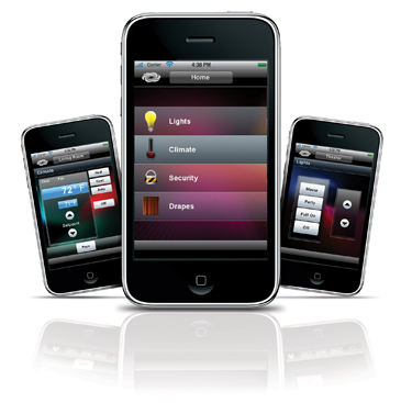 home automation control on iphone from crestron