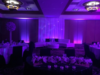 Wedding = Private Event/Party Uplighting